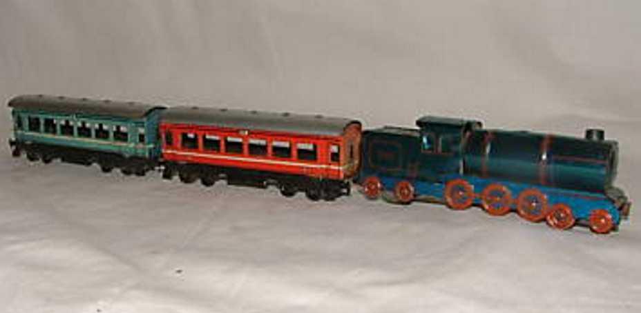 Fischer Goerg Penny Toy Eisenbahn mit Uhrwerkantrieb