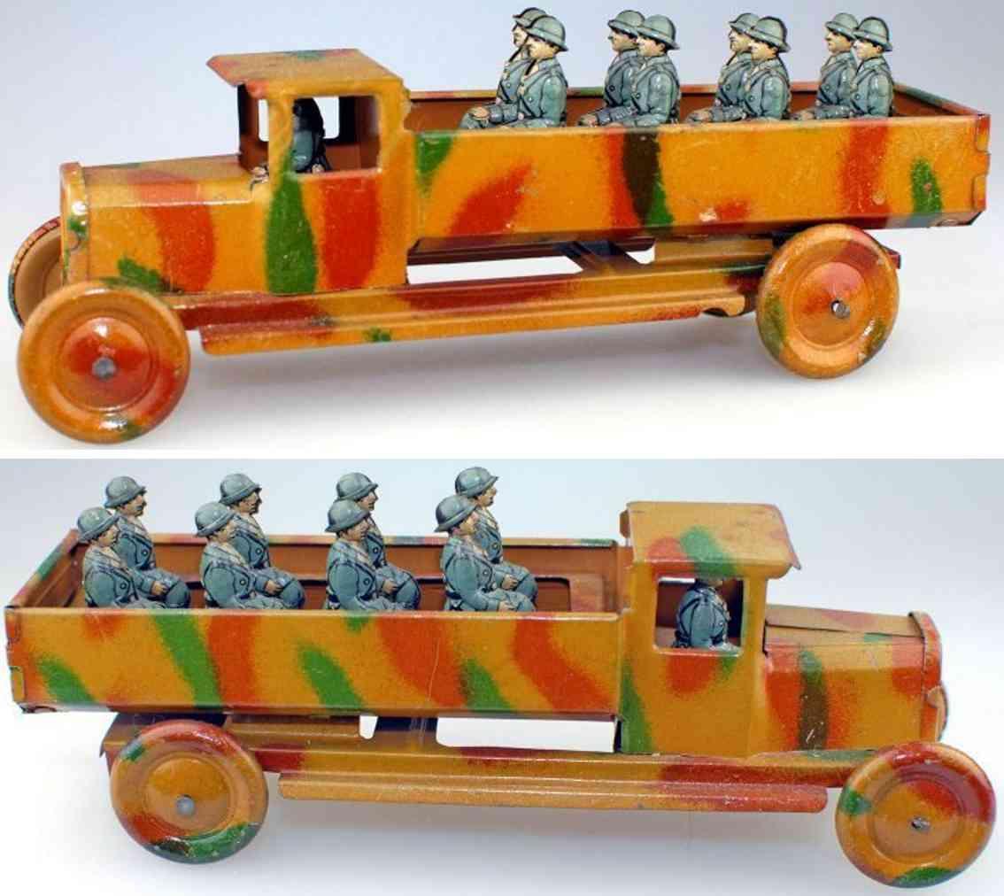 fischer georg penny toy militaerlastwagen