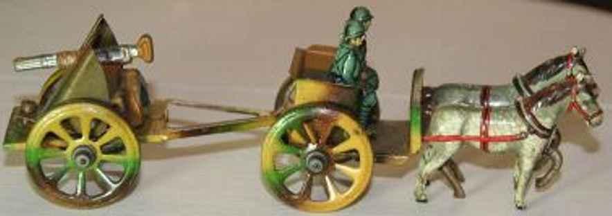 fischer georg militaer penny toy kutsche mit 2 pferden soldaten und kanone