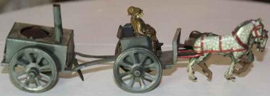 penny toy georg fischer feldkueche mit soldaten 1 pferd