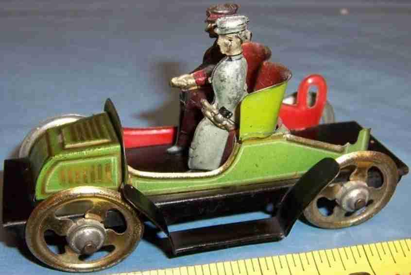 fischer georg penny toy auto fahrer beifahrerin