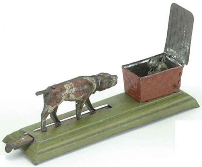 fischer georg penny toy hund mit katze im korb