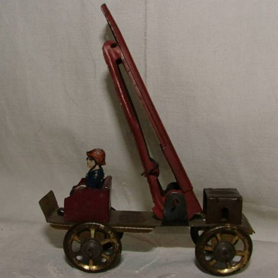 fischer georg penny toy fire department with double ladder