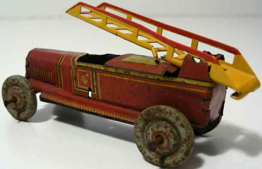 fischer georg penny toy feuerwehrauto  luxusversion