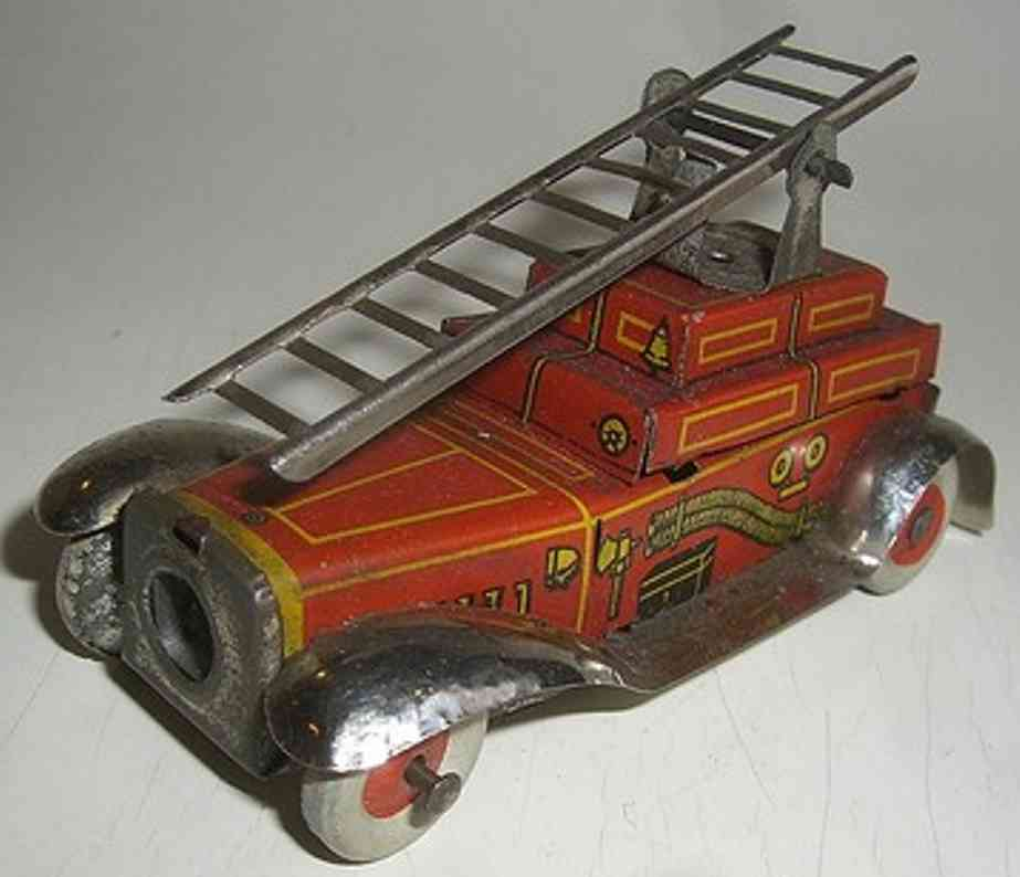 Fischer Georg Penny Toy Fire engine as a pencil sharpener