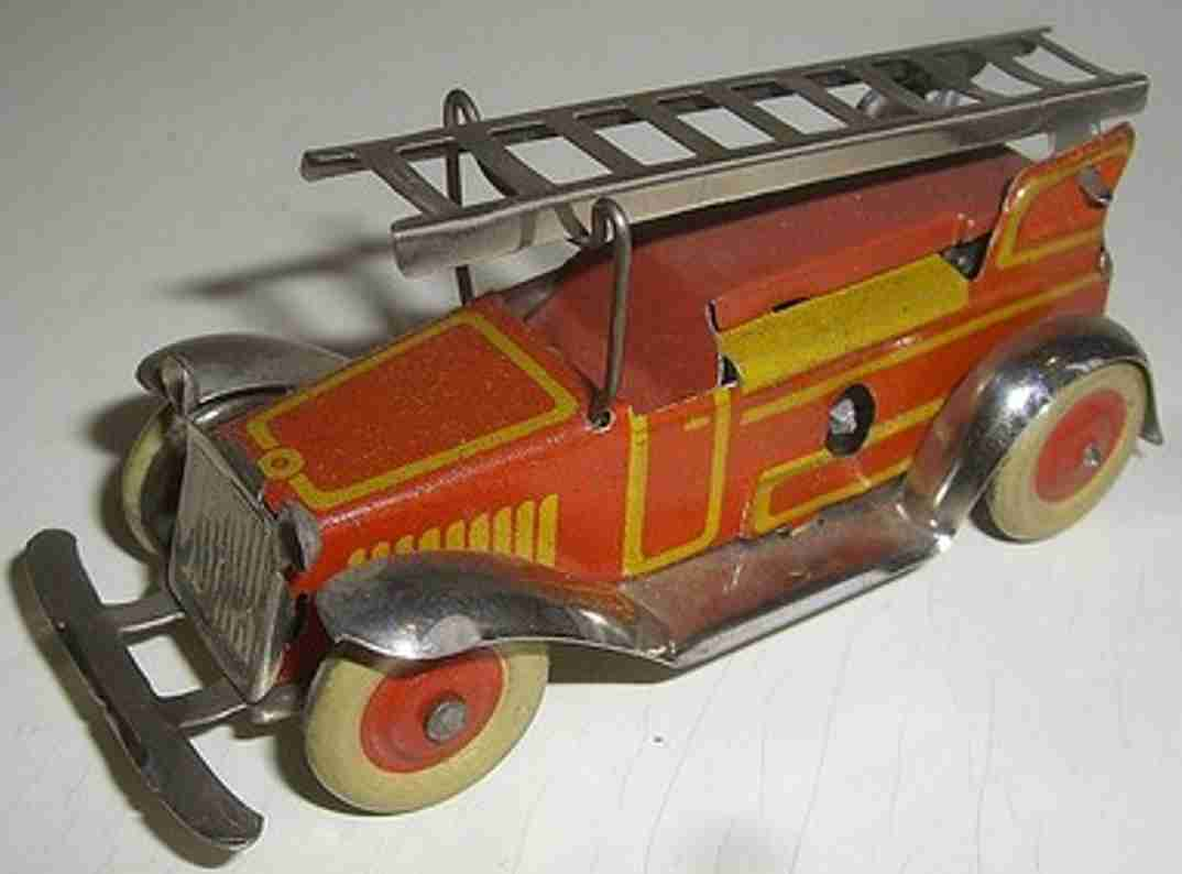 Fischer Georg Penny Toy Fire engine with clockwork