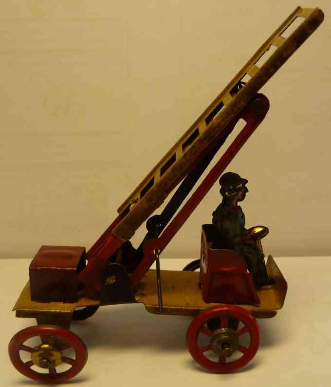 fischer georg penny toy fire ladder car