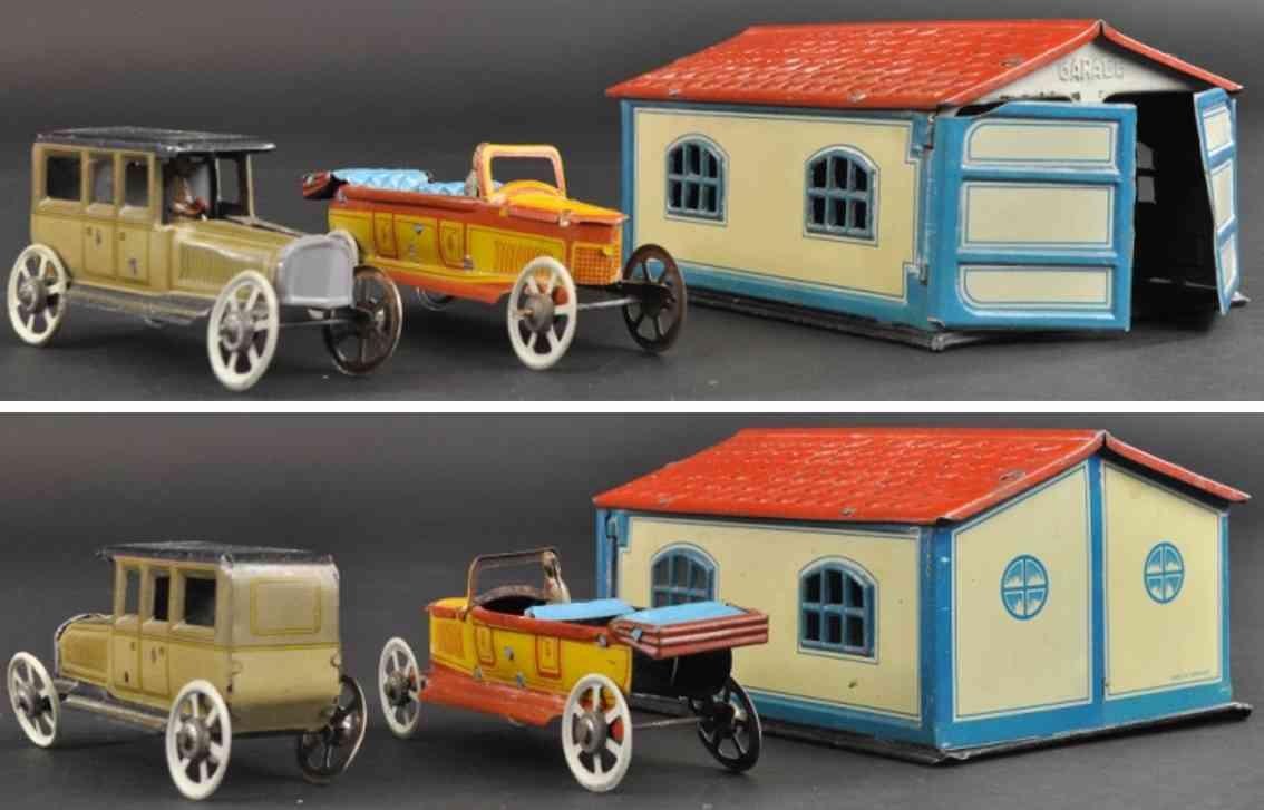 penny toy fischer georg garage mit zwei autos