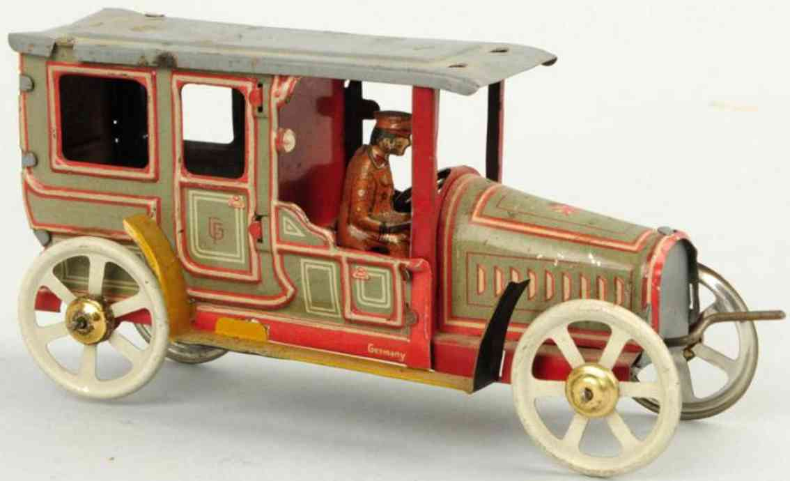 fischer georg penny toy limousine with driver figure