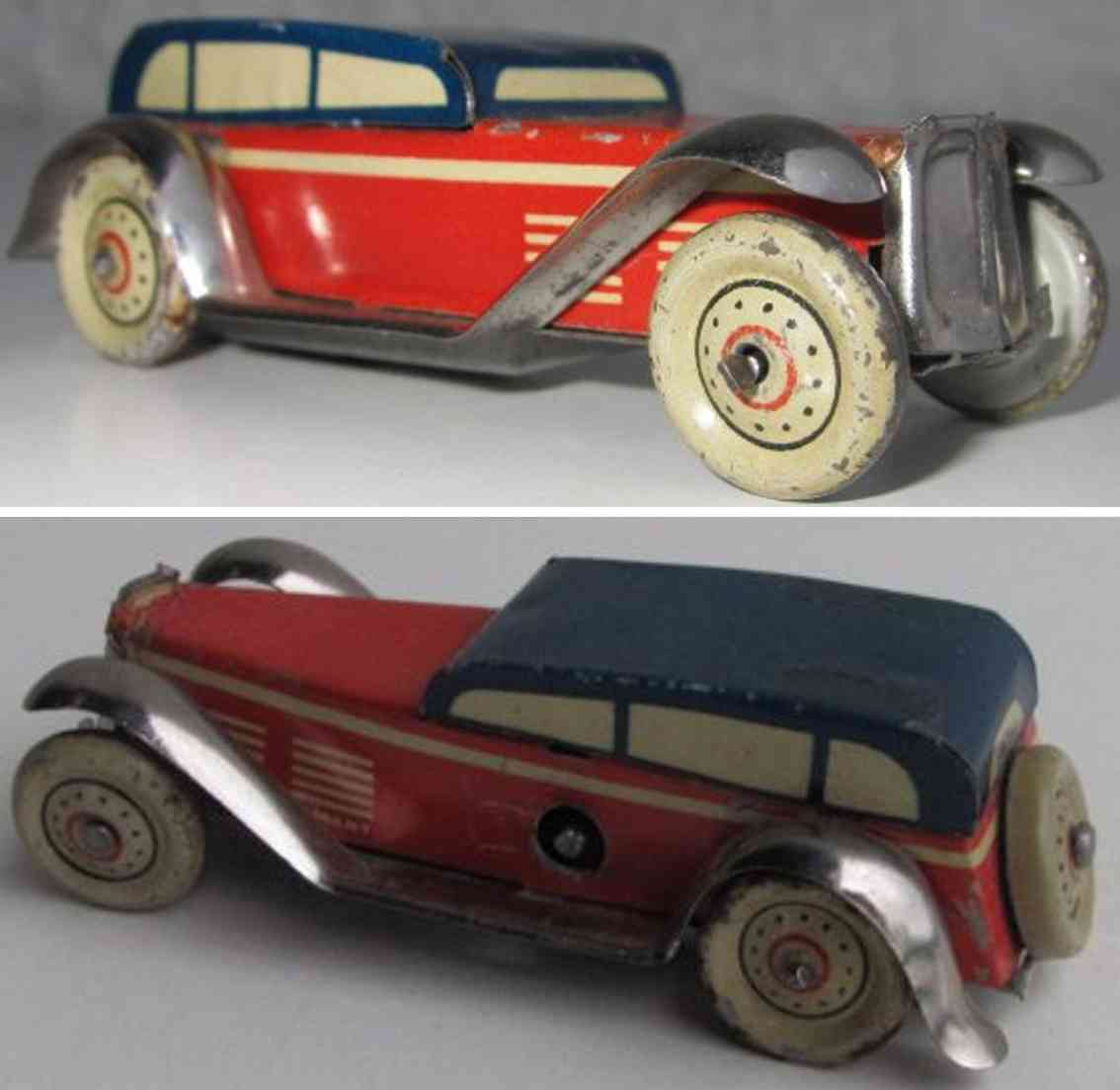 fischer georg penny toy limousine with clockwork