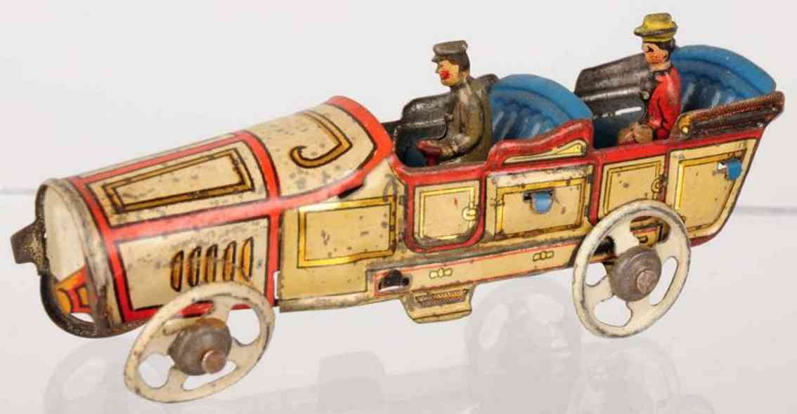 fischer georg penny toy limousine aus blech mit fahrer und lady