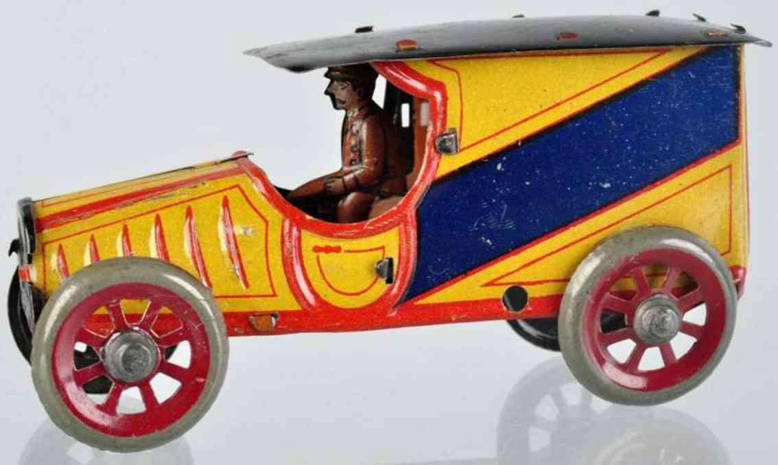 fischer georg penny toy lastwagen mit fahrer orange blau