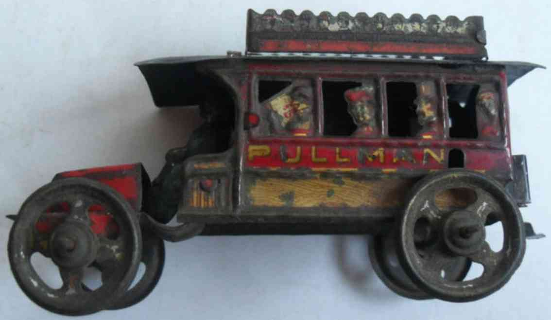 fischer georg Bus 8 penny toy pulmann lithographed for the english market, well detailied