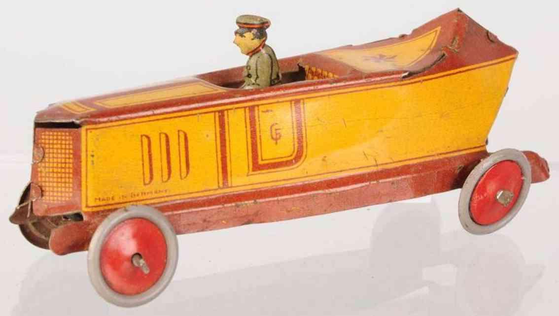 fischer georg penny toy rennwagen in bootsform aus blech