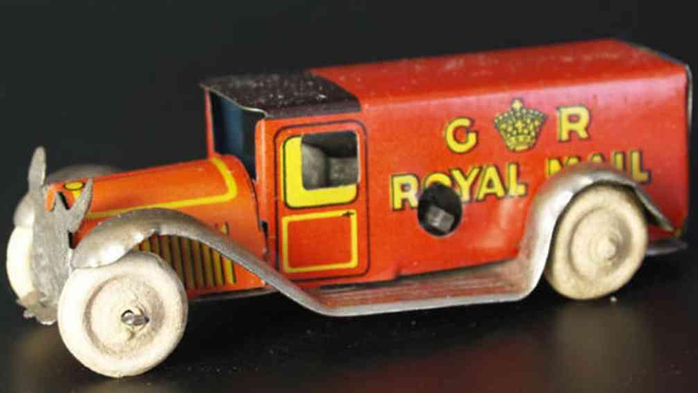 Fischer Georg Penny Toy Lieferwagen mit Uhrwerk Royal Mail