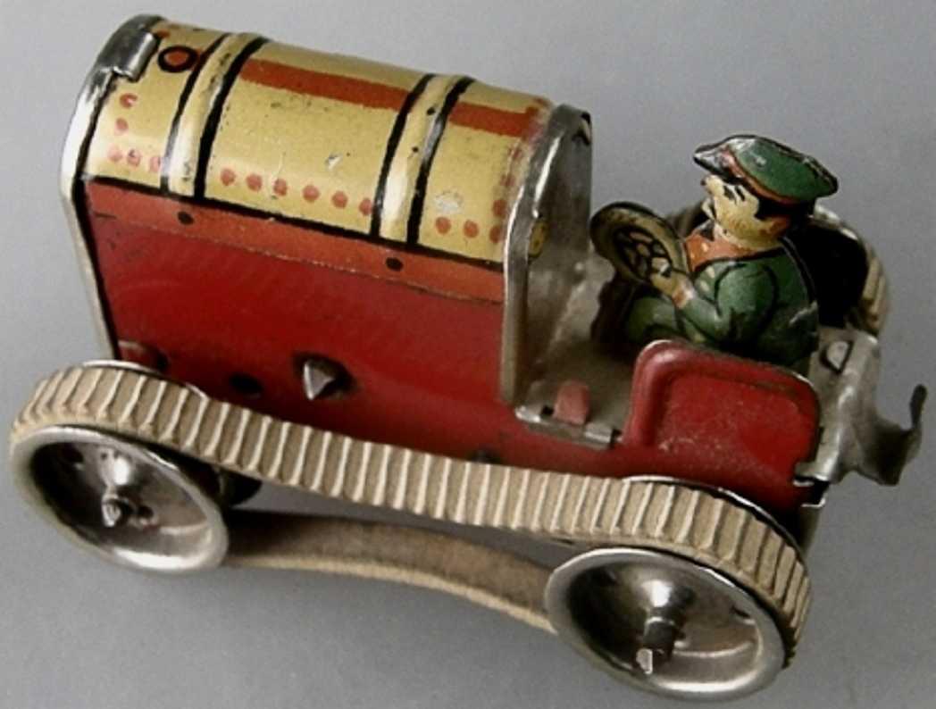 gama penny toy raupenschlepper , lithografiert mit uhrwerk