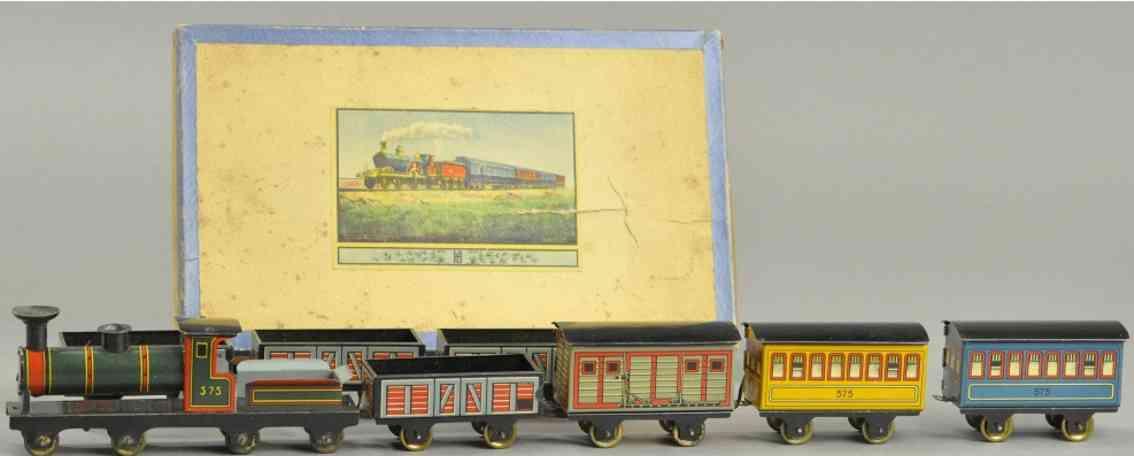 hess penny toy güterzugset mit karton lokomotive sieben wagen