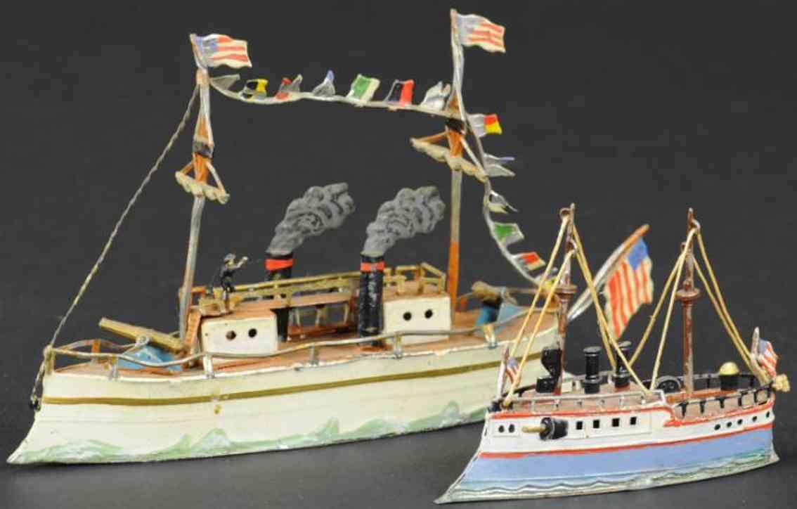 heyde penny toy zwei schiffe aus blei