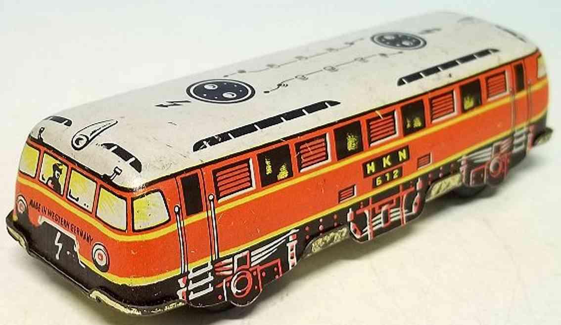 Huki Kienberger 612 Penny Toy Elektrische Lokomotive aus Blech