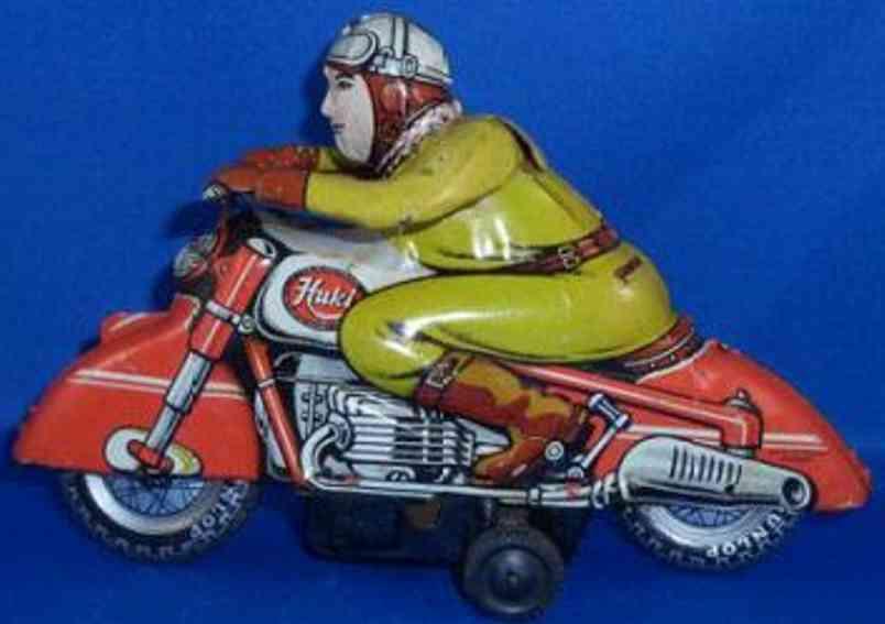 Huki Kienberger Penny Toy Motorradfahrer mit Friktionsantrieb