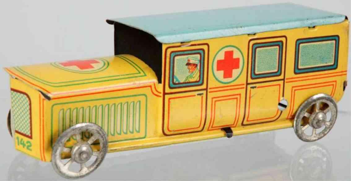 huki kienberger hk 142 penny toy krankenwagen vernickeltes auto aus blech