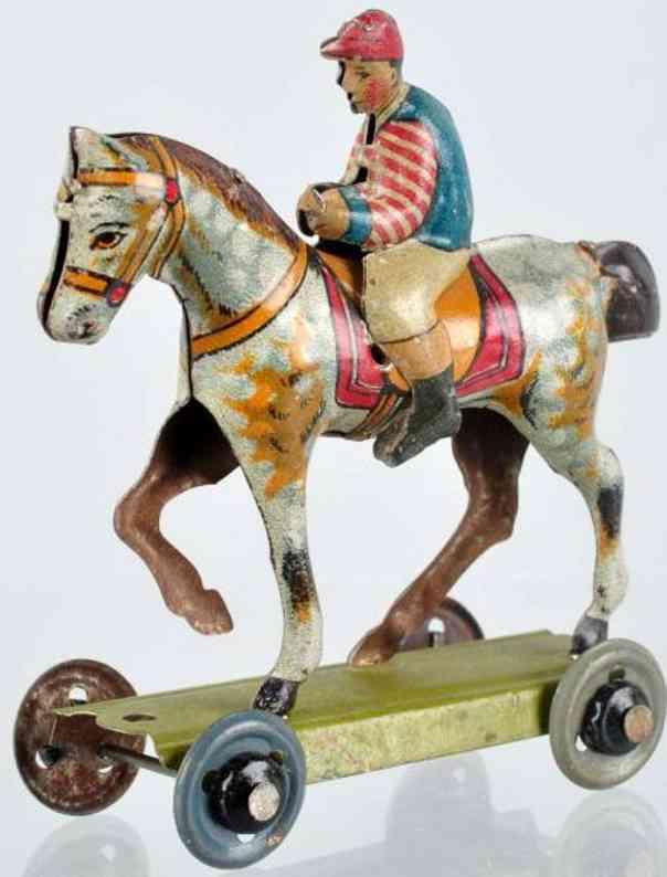 huki kienberger penny toy jockey auf pferd plattform raeder