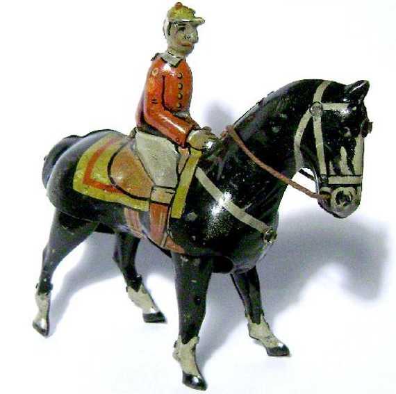 keim penny toy reiter auf schwarzem pferd k900 uhrwerk