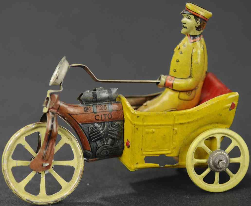 kellermann 126 cito penny toy ein mann auf dreirad