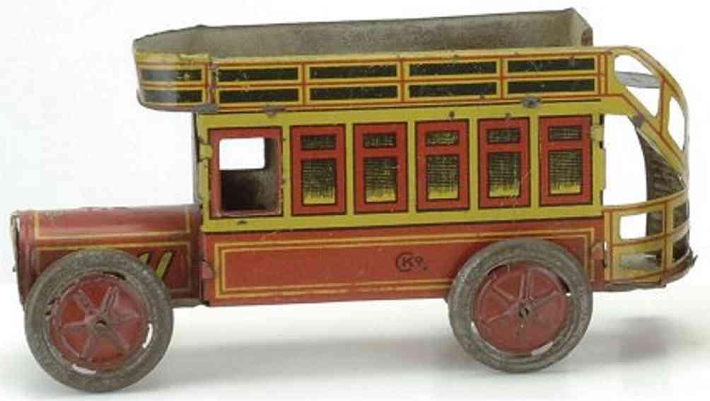 Kellermann 176 Penny Toy Doppeldeckerbus lithografiert