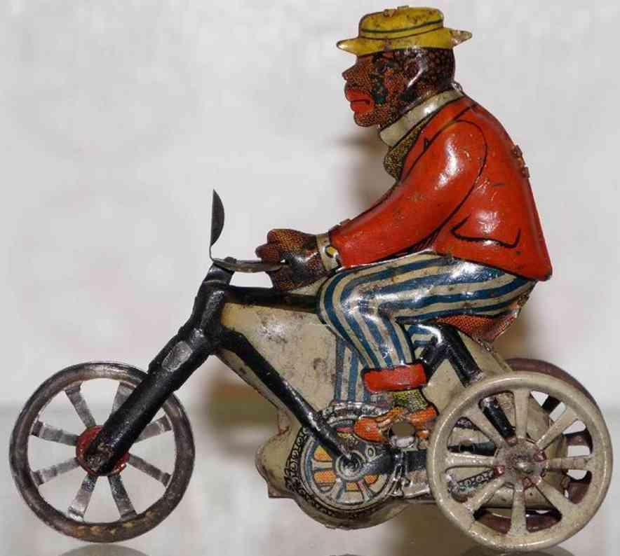 kellermann 184w penny toy neger auf dreirad mit spiralwerk lampe