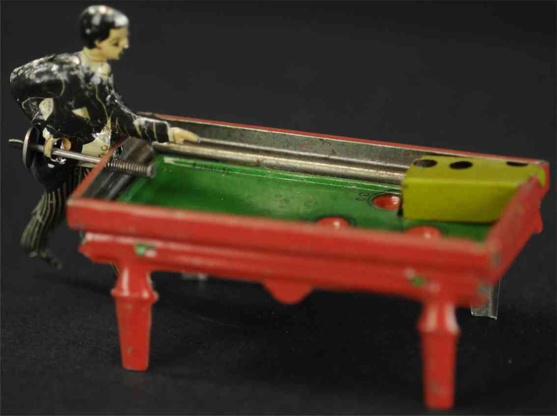 kellermann 89 penny toy tin toy pool billiard player penny toy