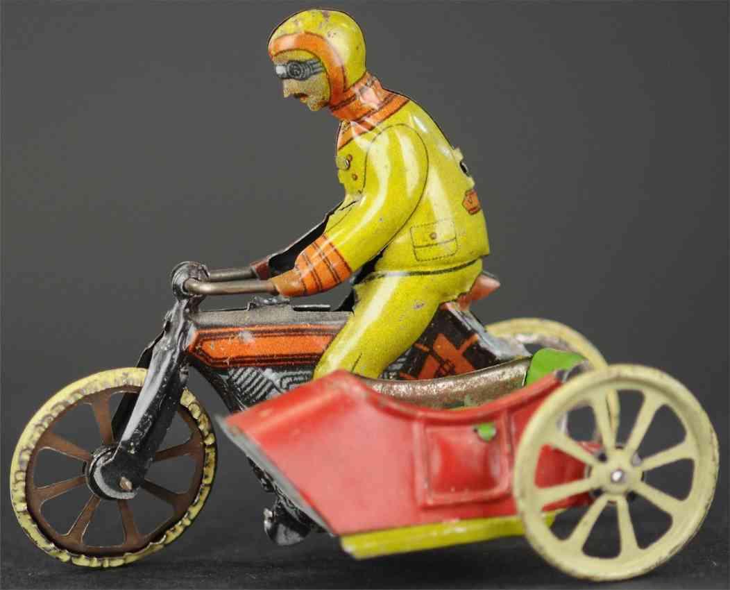 kellermann 96 penny toy motorradfahrer beiwagen ohne beifahrer