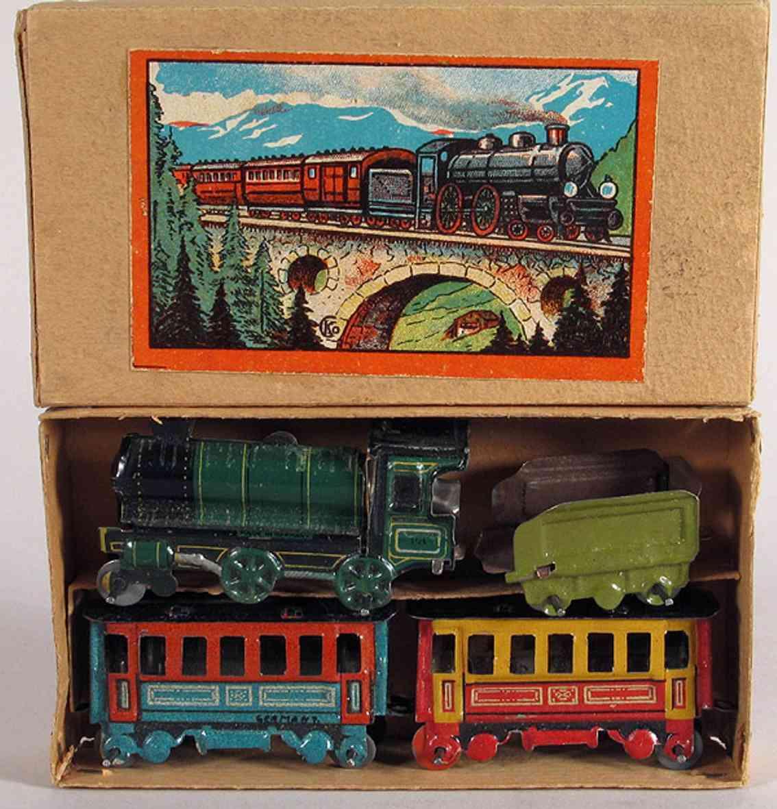 Kellermann Penny Toy Zugpackung mit Lokomotive Tender und 2 Personenwagen
