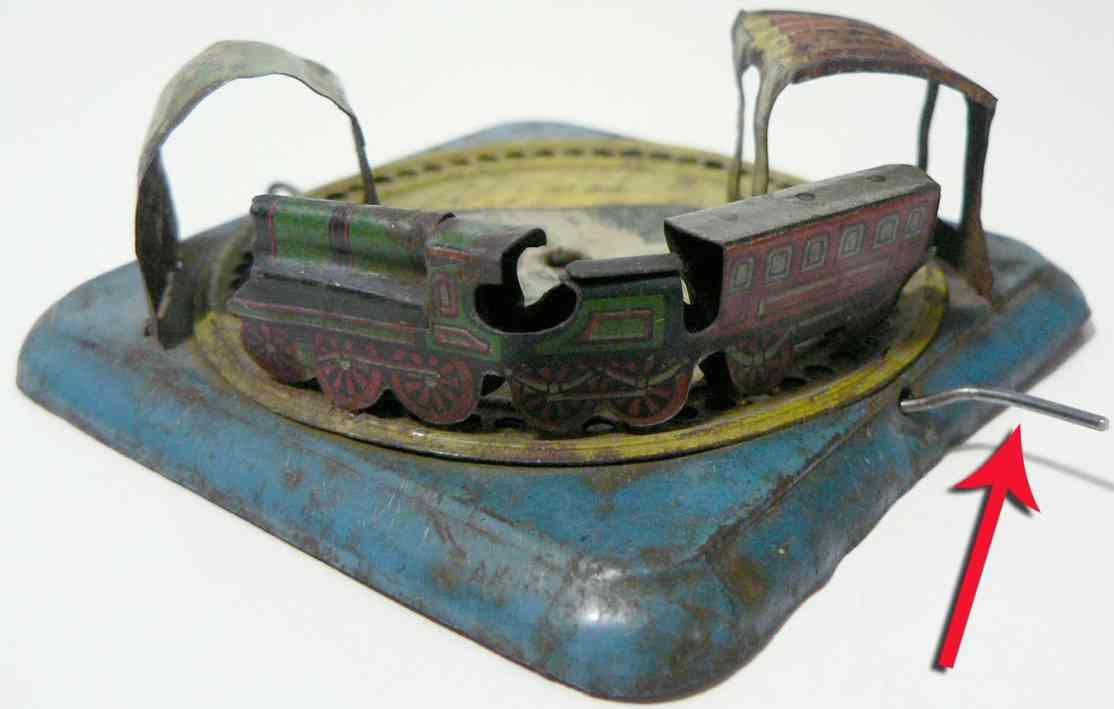 kellermann penny toy railway with crank