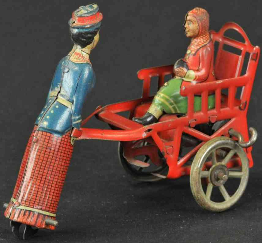 kellermann penny toy kindermaedchen mit kind uhrwerk
