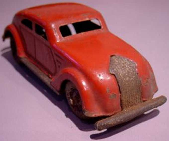 lehmann 807/1 penny toy limousine without clockwork from the gnom series red