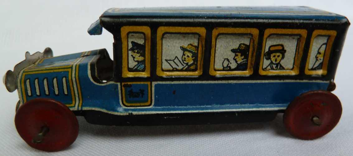 Levy George Gely 114 Penny Toy  Reisebus mit lithgorafierten Passagieren