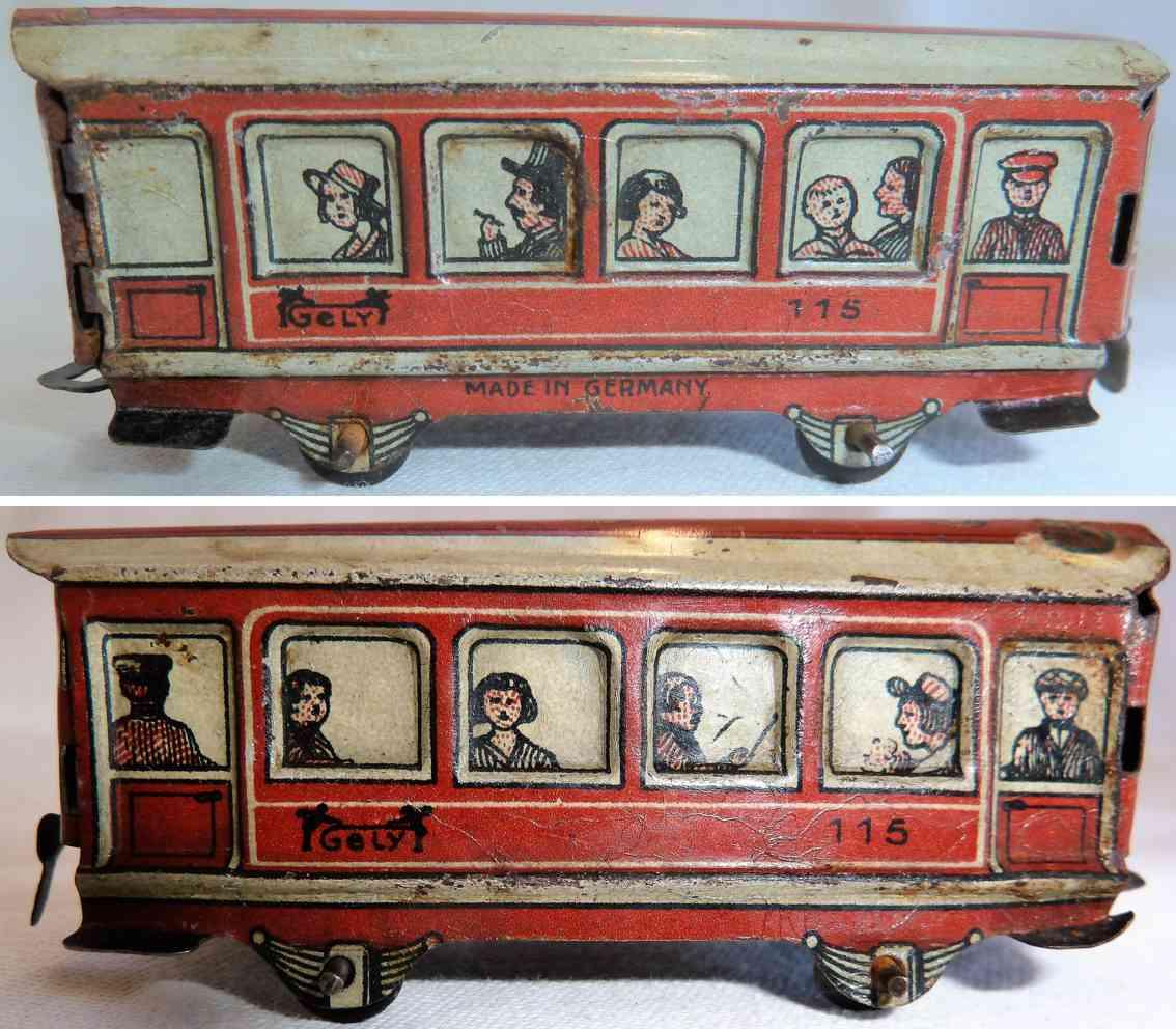 levy george gely 115 penny toy eisenbahn personenwagen ror weiss