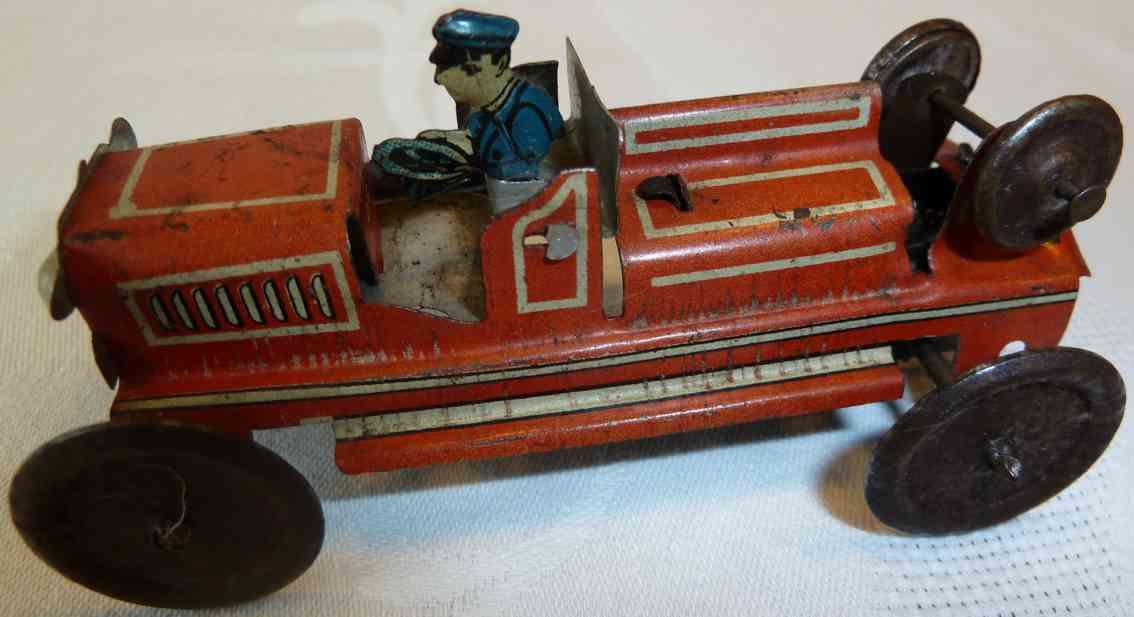 Levy George Gely 136 Penny Toy Feuerwehrschlauchrollewagen