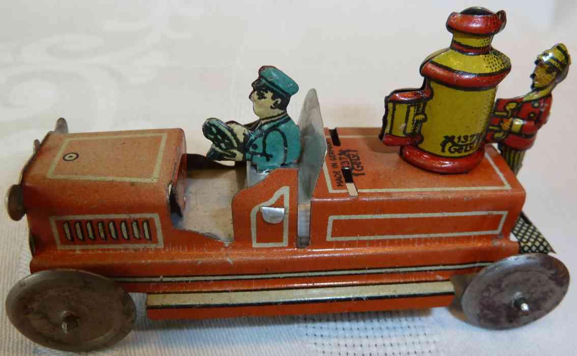Levy George Gely 137 Penny Toy Feuerwehrkesselwagen