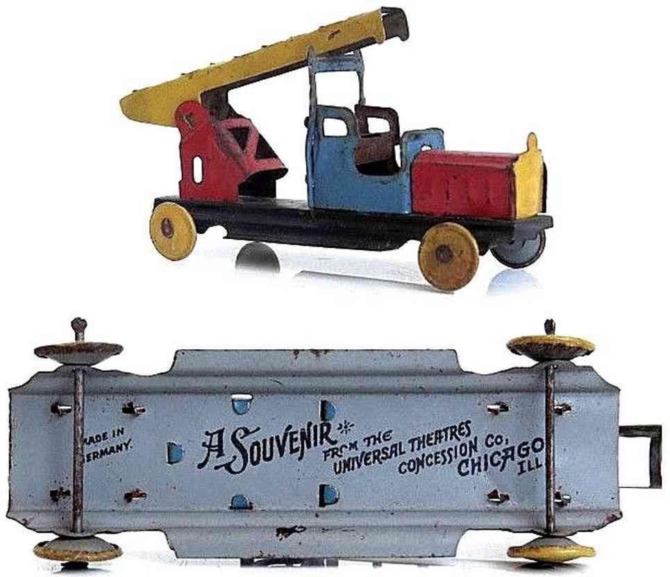 levy george gely penny toy feuerwehrleiterwagen universal theatre souvenir