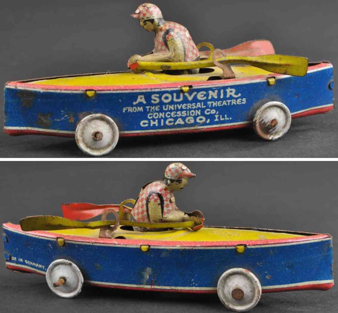 levy george gely penny toy canoe souvenir