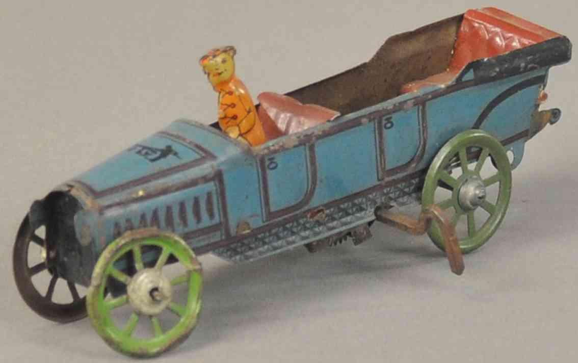 levy george gely penny toy tourenwagen blau braun uhrwerk fahrer
