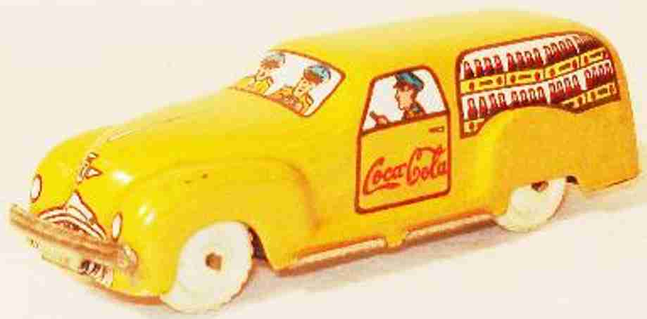 marchesini 417 penny toy van yellow without drive coca cola