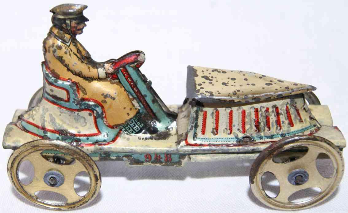 meier 1454 penny toy race car in gordon-benett style