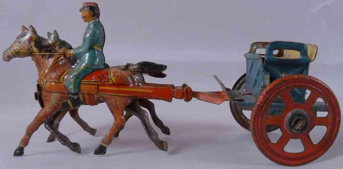 meier penny toy zwei pferde mit reiter und karren