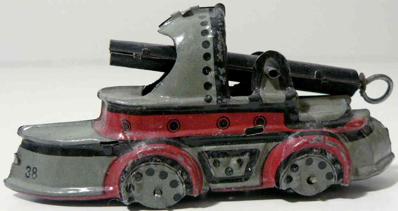 meier 38 penny toy kriegsschiff mit erbsenkanone