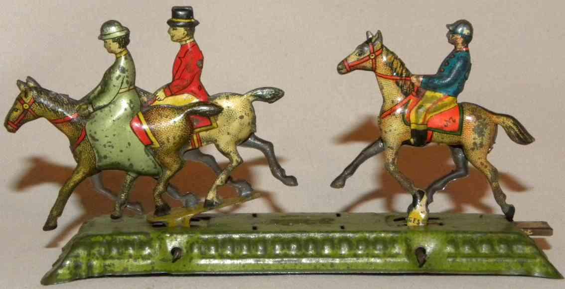 Meier Penny Toy 3 Pferd mit Reiter auf einem Sockel