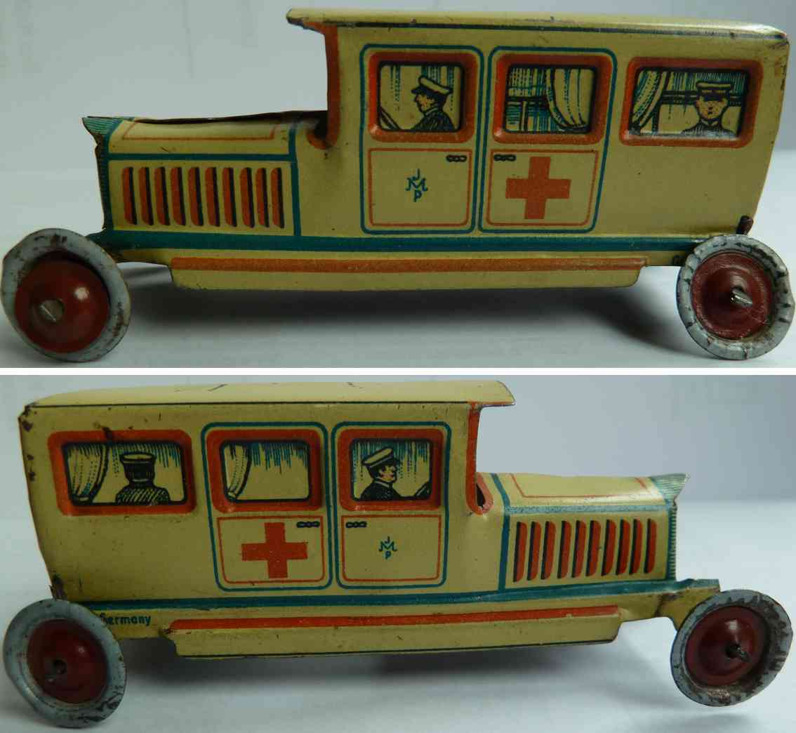 meier 609 penny toy red cross limousine ambulance