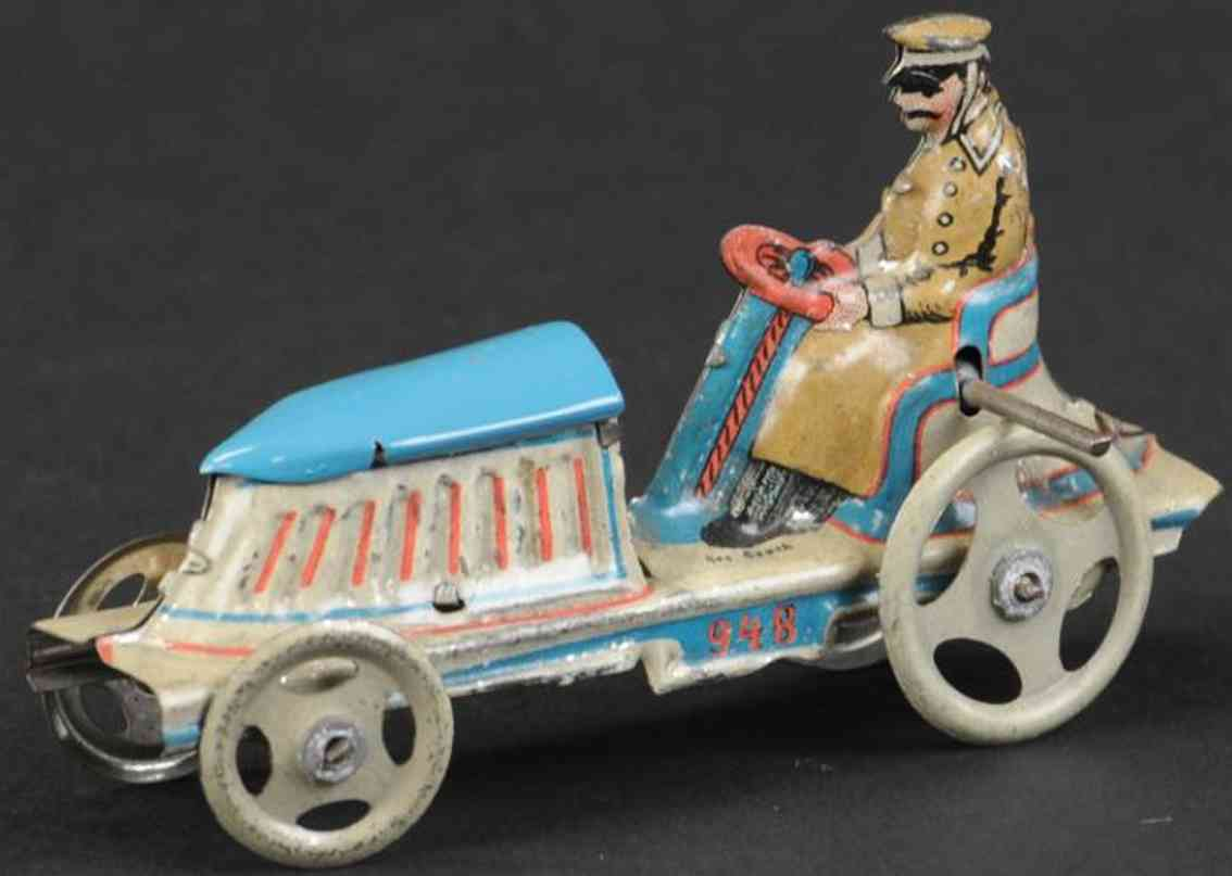 meier 948 penny toy open auto white blue